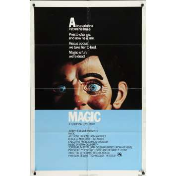 MAGIC Original Movie Poster - 27x40 in. - 1978 - Richard Attenborough, Anthony Hopkins