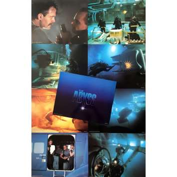THE ABYSS Original Lobby Cards - 11x14 in. - 1989 - James Cameron, Ed Harris
