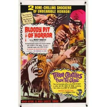 BLOODY PIT OF HORROR Affiche de film - 69x102 cm. - 1965 - Mickey Hargitay, Massimo Pupillo