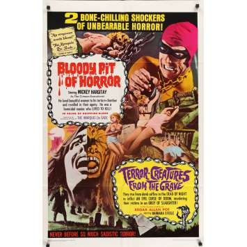 BLOODY PIT OF HORROR Original Movie Poster - 27x40 in. - 1965 - Massimo Pupillo, Mickey Hargitay