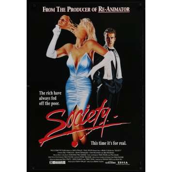 SOCIETY Original Movie Poster - 27x40 in. - 1989 - Brian Yuzna, Billy Warlock
