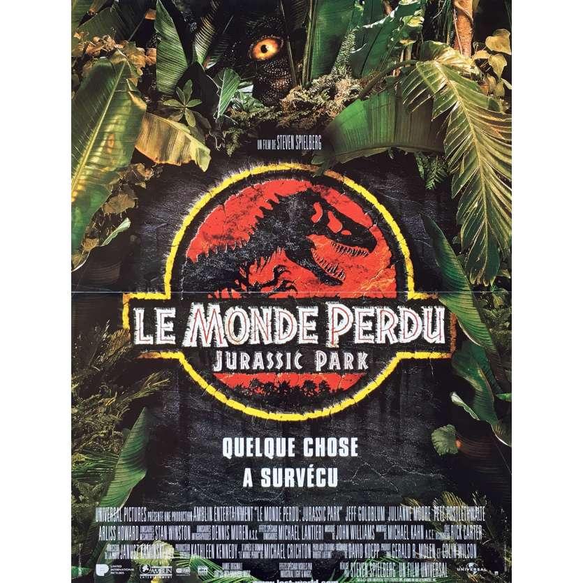 JURASSIC PARK 2 LE MONDE PERDU Affiche de film 40x60 cm - 1997 - Jeff Goldblum, Steven Spielberg