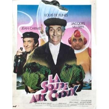 LA SOUPE AUX CHOUX Synopsis - 21x30 cm. - 1981 - Louis de Funes, Jean Girault
