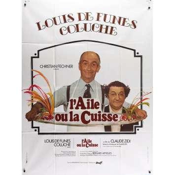 L'AILE OU LA CUISSE Affiche de film - 120x160 cm. - 1976 - Louis de Funes, Claude Zidi