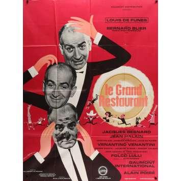 LE GRAND RESTAURANT Affiche de film - 120x160 cm. - 1966 - Louis de Funes, Jacques Besnard