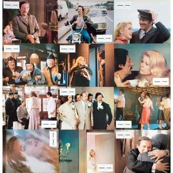 COURAGE LET'S RUN Original Lobby Cards x12 - 9x12 in. - 1979 - Yves Robert, Catherine Deneuve