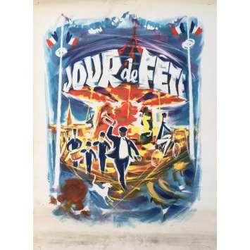 JOUR DE FETE Original Artwork Print - 15x21 in. - R1960 - Jacques Tati, Paul Frankeur