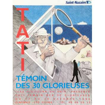 JACQUES TATI, WITNESS OF THE 30 GLORIOUS Original Movie Poster - 15x21 in. - 1990 - 0, 0