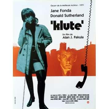 KLUTE Affiche de film - 40x60 cm. - R2010 - Jane Fonda, Alan J. Pakula