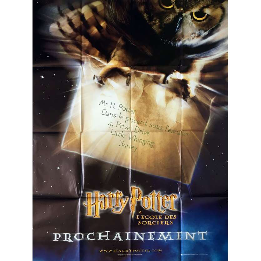 HARRY POTTER Original Movie Poster Adv. - 47x63 in. - 2001 - Chris Colombus, Daniel Radcliffe