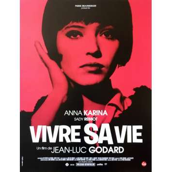 MY LIFE TO LIVE Original Movie Poster - 15x21 in. - R2000 - Jean-Luc Godard, Anna Karina