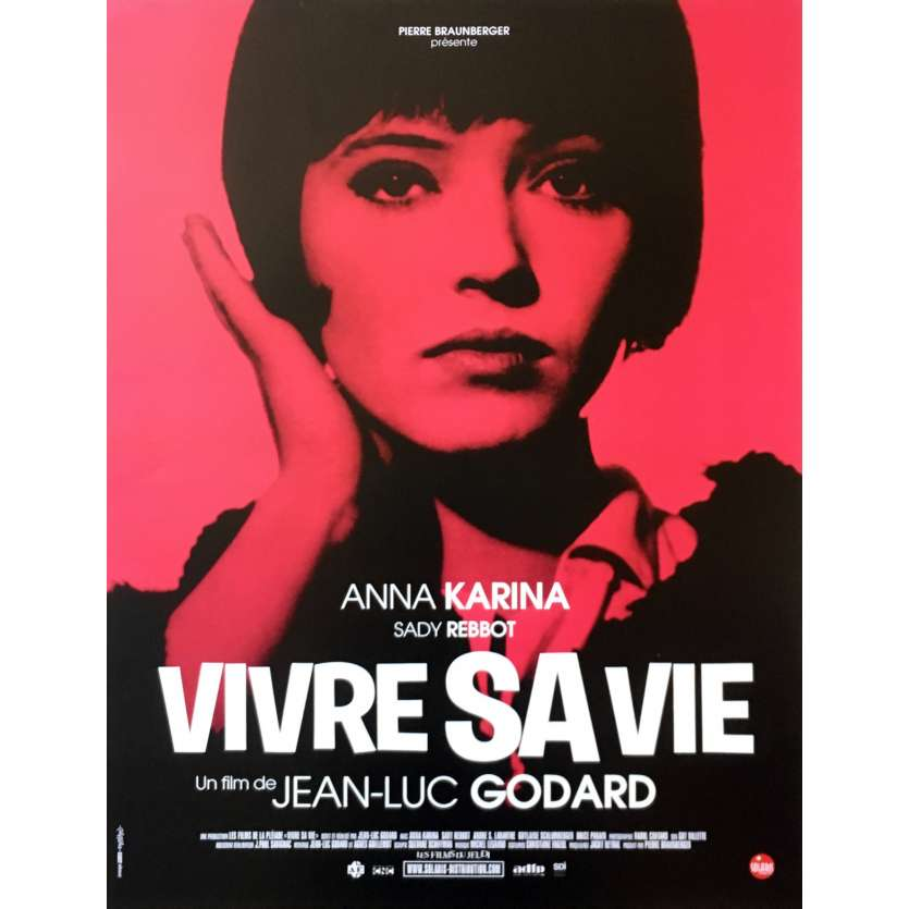 VIVRE SA VIE Affiche de film - 40x60 cm. - R2000 - Anna Karina, Jean-Luc Godard