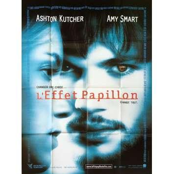 L'EFFET PAPILLON Affiche de film - 120x160 cm. - 2004 - Ashton Kutcher, Eric Bress