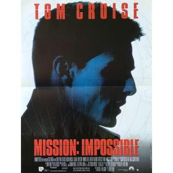 MISSION IMPOSSIBLE Original Movie Poster - 15x21 in. - 1996 - Brain de Palma, Tom Cruise