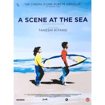 A SCENE AT THE SEA Original Movie Poster - 15x21 in. - 1991 - Takeshi Kitano, Claude Maki