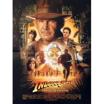 INDIANA JONES AND THE KINGDOM OF THE CRYSTAL SKULL Original Movie Poster - 15x21 in. - 2008 - Steven Spielberg, Harrison Ford