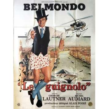 LE GUIGNOLO Affiche de film - 120x160 cm. - 1980 - Jean-Paul Belmondo, Georges Lautner