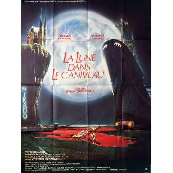 LA LUNE DANS LE CANIVEAU Affiche de film 120x160 cm - 1983 - Gérard Depardieu, Jean-Jacques Beineix