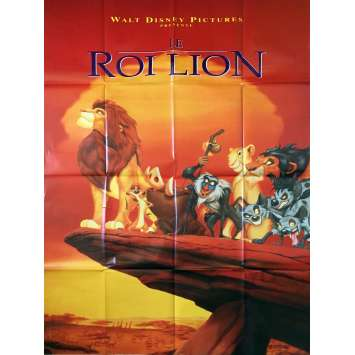 LION KING French Movie Poster 47x63 '94 Walt Disney Classic
