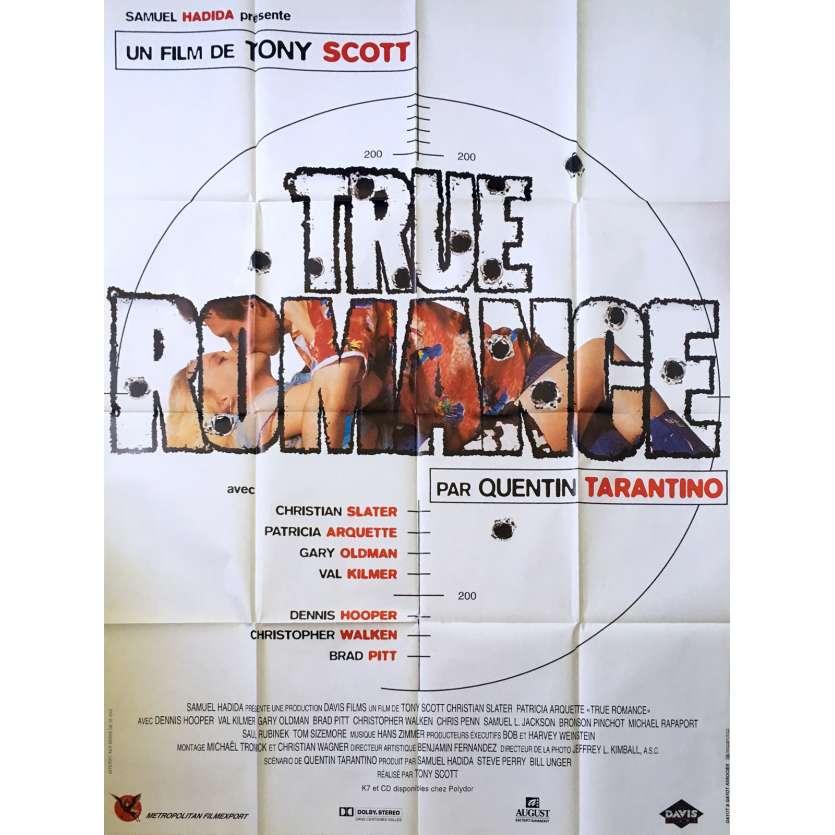 TRUE ROMANCE Affiche française 120x160 B Tony Scott Tarantino Movie Poster