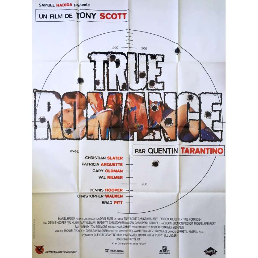 TRUE ROMANCE French Movie Poster 47x63 '93 Tony Scott Quentin Tarantino