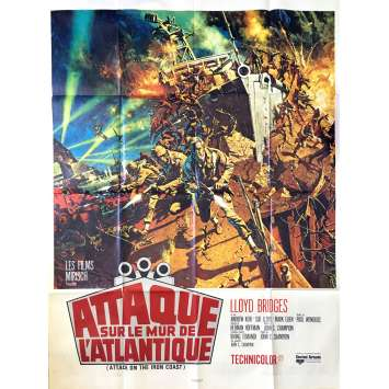ATTACK ON THE IRON COST Movie Poster 47x63 in. French - 1968 - Paul Wendkos, Lloyd Bridges