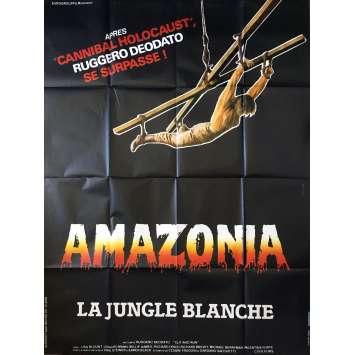 AMAZONIA Affiche de film 120x160 cm - 1985 - Lisa Blount, Ruggero Deodato