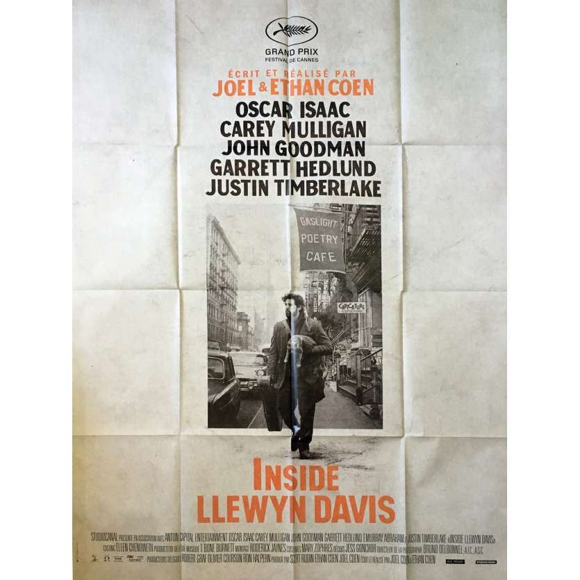 INSIDE LLEWYN DAVIS French Movie Poster 47x63 - 2013 - Joel Coen, Oscar Isaac