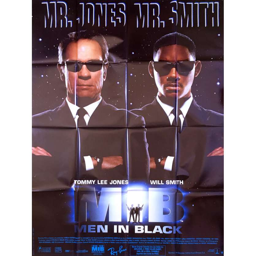 MEN IN BLACK Affiche originale FR '97 Will Smith, Tommy Lee Jones movie poster
