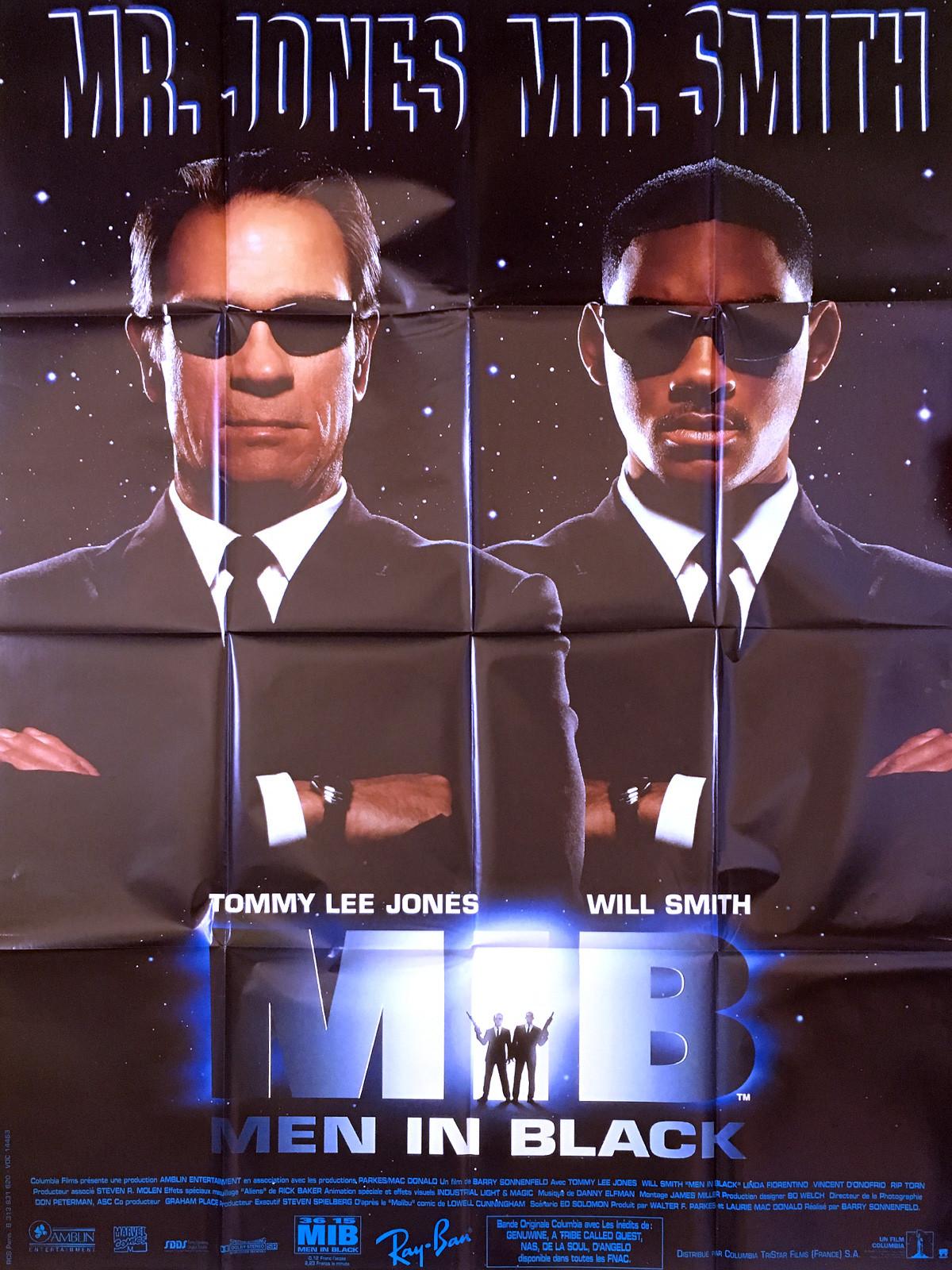 Men In Black Movie Poster 47x63 1997 Will Smith Tommy Lee Jones