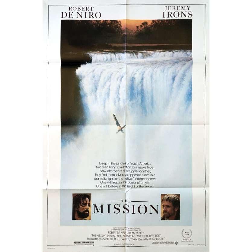 MISSION US Movie Poster Intl. 29x41 - 1986 - Roland Joffé, Robert de Niro