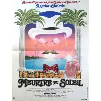 EVIL UNDER THE SUN Movie Poster 15x21 in. French - 1982 - Guy Hamilton, Peter Ustinov