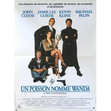 UN POISSON NOMME WANDA Affiche de film 40x60 - 1988 - John Cleese, Charles Crichton