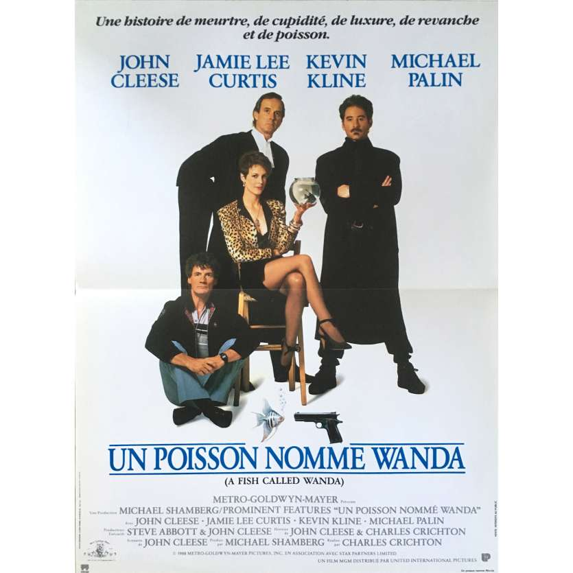 A FISH CALLED WANDA French Movie Poster 15x21 - 1988 - Charles Crichton, John Cleese