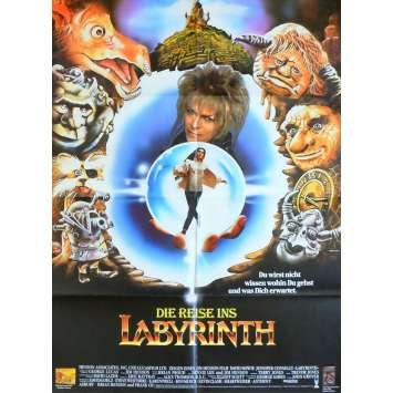 LABYRINTHE Affiche de film - 1986 - David Bowie, Jim Henson