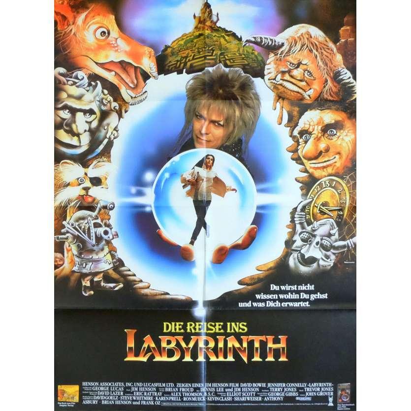 LABYRINTH German Movie Poster - 1986 - Jim Henson, David Bowie Labyrinth 1986 Poster