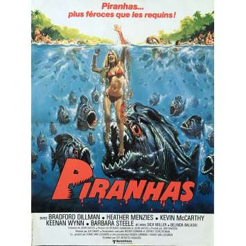 PIRANHA Original Movie Poster - 15x21 in. - 1978 - Joe Dante, Kevin McCarthy