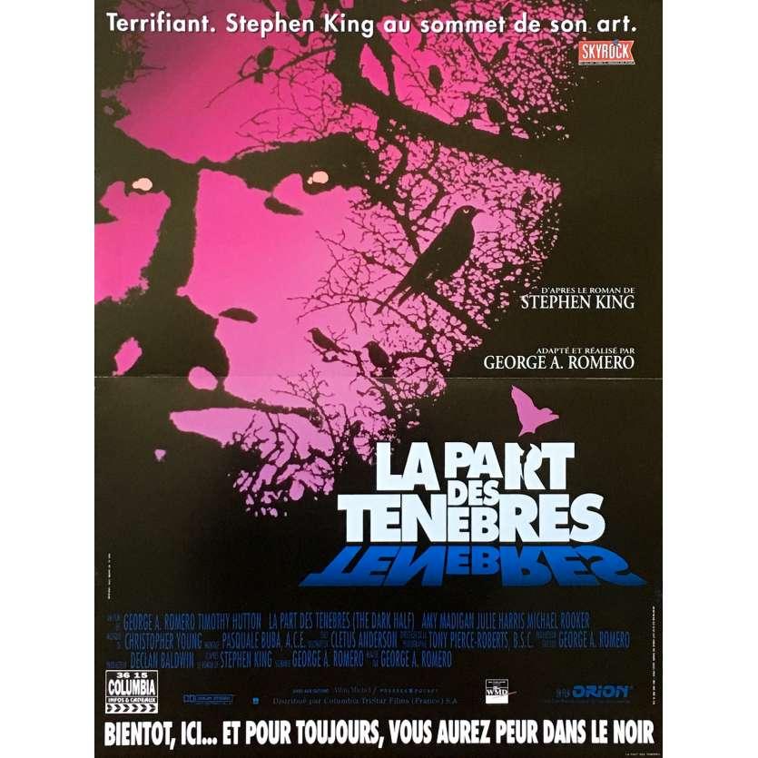 THE DARK HALF Original Movie Poster - 15x21 in. - 1993 - George A. Romero, Timothy Hutton