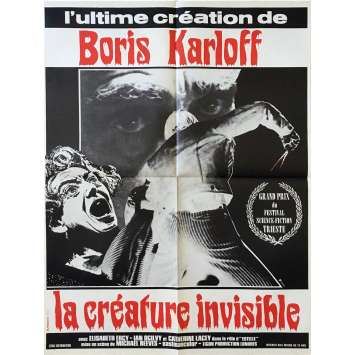 LA CREATURE INVISIBLE Affiche de film - 60x80 cm. - R1980 - Boris Karloff, Michael Reeves