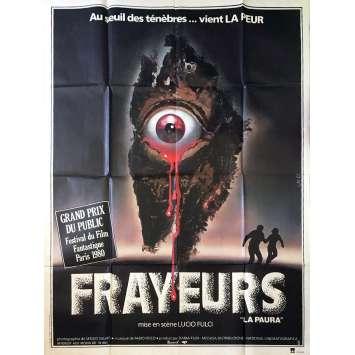 FRAYEURS Affiche de film - 120x160 cm. - 1980 - Catriona MacColl, Lucio Fulci