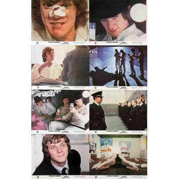 ORANGE MECANIQUE Photos de film x8 - 24x30 cm. - 1971 - Malcom McDowell, Stanley Kubrick