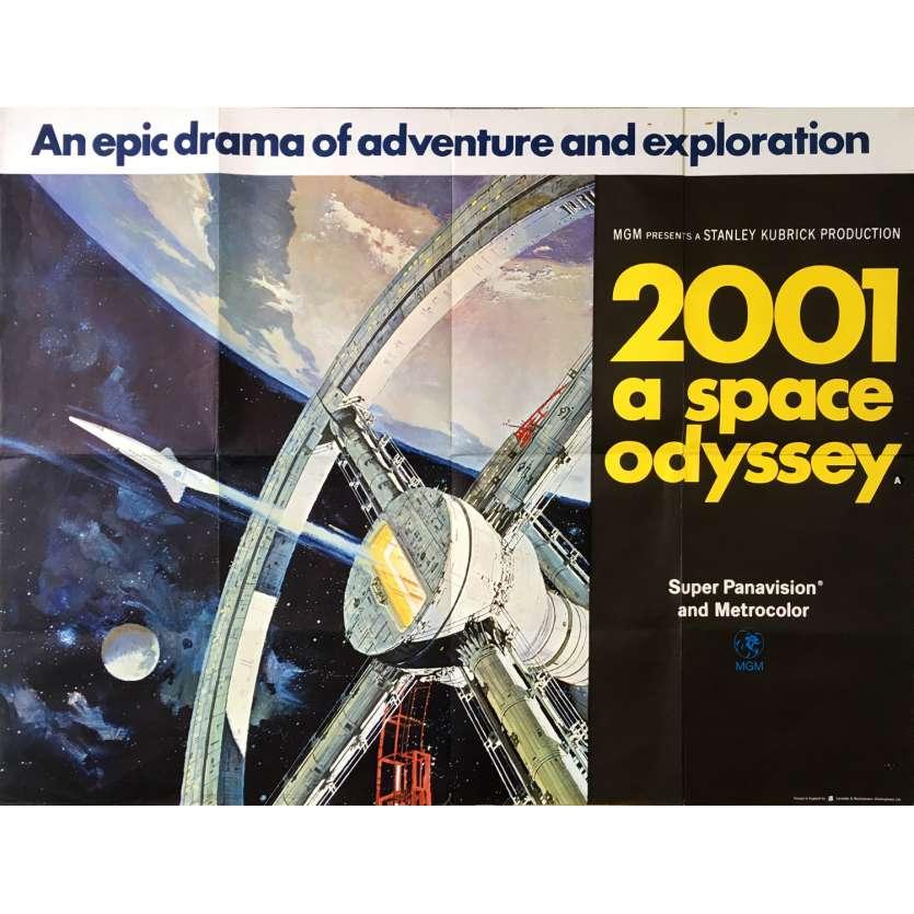 2001 L'ODYSSEE DE L'ESPACE Affiche Originale Anglaise, Space Wheel - 1968 - Kubrick