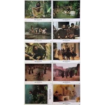 MISSION Photos de film x10 - Prestige - 30x40 cm. - 1986 - Robert de Niro, Roland Joffé