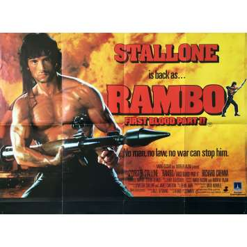 RAMBO II Affiche de film - 76x102 cm. - 1985 - Sylvester Stallone, George P. Cosmatos