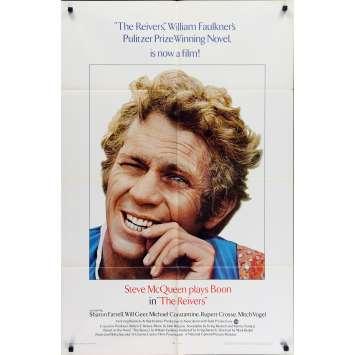 REIVERS Affiche de film - 69x102 cm. - 1969 - Steve McQueen, Mark Rydell