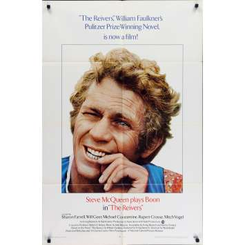 THE REIVERS Original Movie Poster - 27x40 in. - 1969 - Mark Rydell, Steve McQueen