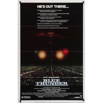 TONNERRE DE FEU Affiche de film - 69x102 cm. - 1983 - Roy Sheider, John Badham