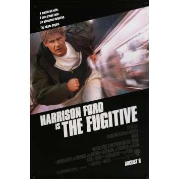 LE FUGITIF Affiche de film - 69x102 cm. - 1993 - Harrison Ford, Andrew Davis