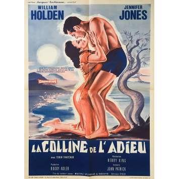 LA COLLINE DE L'ADIEU Affiche de film - 60x80 cm. - 1955 - William Holden, Henry King
