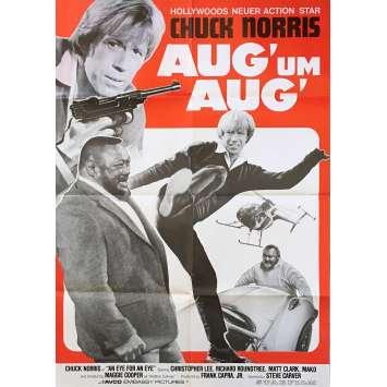 AN EYE FOR AN EYE Original Movie Poster - 23x33 in. - 1981 - Steve Carver, Chuck Norris